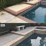 Pool coping, stone veneer, pool tile, pool finish