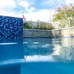 Blue Mastertile on Spa wall