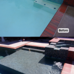 before after pool spa and baja bench add on
