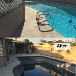 before after pool with spa add on