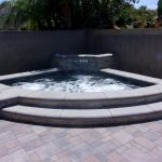 Corner Spa Water feature pavers