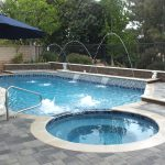 pool and spa deckjets a sheet feeder raised bond beam