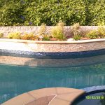 raised bond beam pool planter stack stone